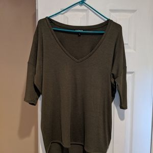 Women's Express Olive green sweater